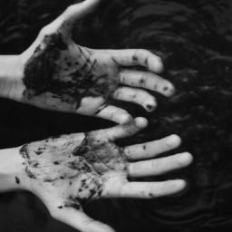 hands poor black nighttime dream