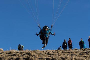 paragliding funny takeoff freetoedit