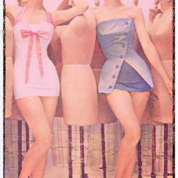 vintage vintagealtered people bathingsuits fashion