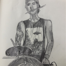 drawing pencil joshdun drumming
