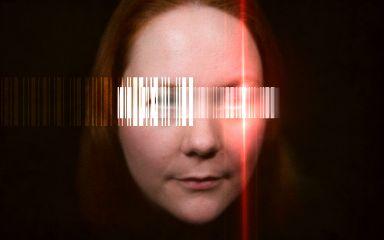 barcodeeyes barcode closeup experimental portrait