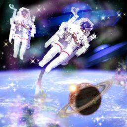wapufosighting doubleexposure cutouttool universe galaxy freetoedit