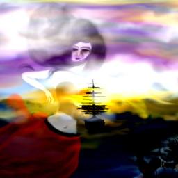 digital painting sea sunsetting robinw