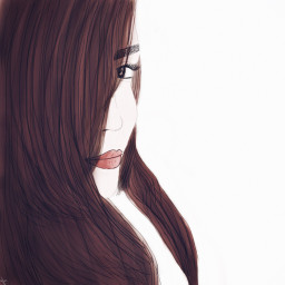 drawing girl hair eye lightbrown freetoedit
