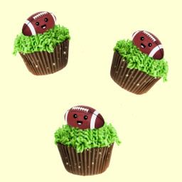 superbowl americanfootball cupcakes falcons patriots freetoedit