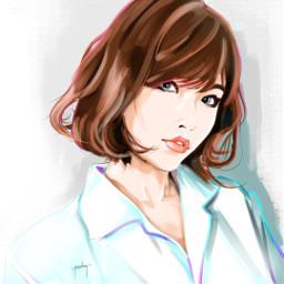 original artdeco koreangirl fashion digitalart