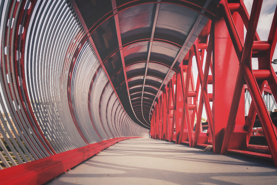 Puente rojo, #bridge #photography #hdrphotography #red #metallic #streetphotography #street #urban