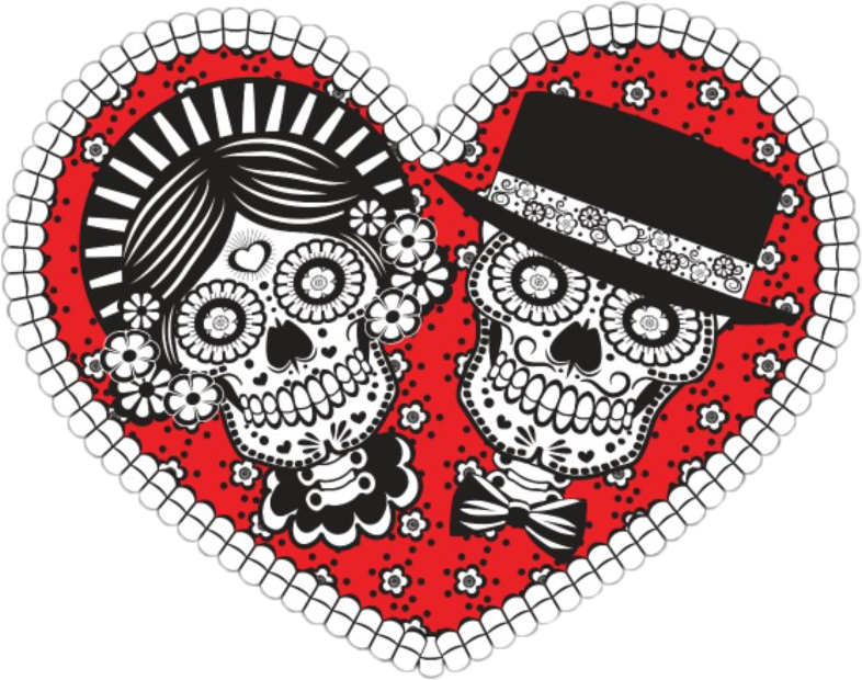#heart #couple #love #skull #dayofthedead #FreeToEdit
