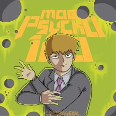 mobpsycho100 reigen art drawing digital